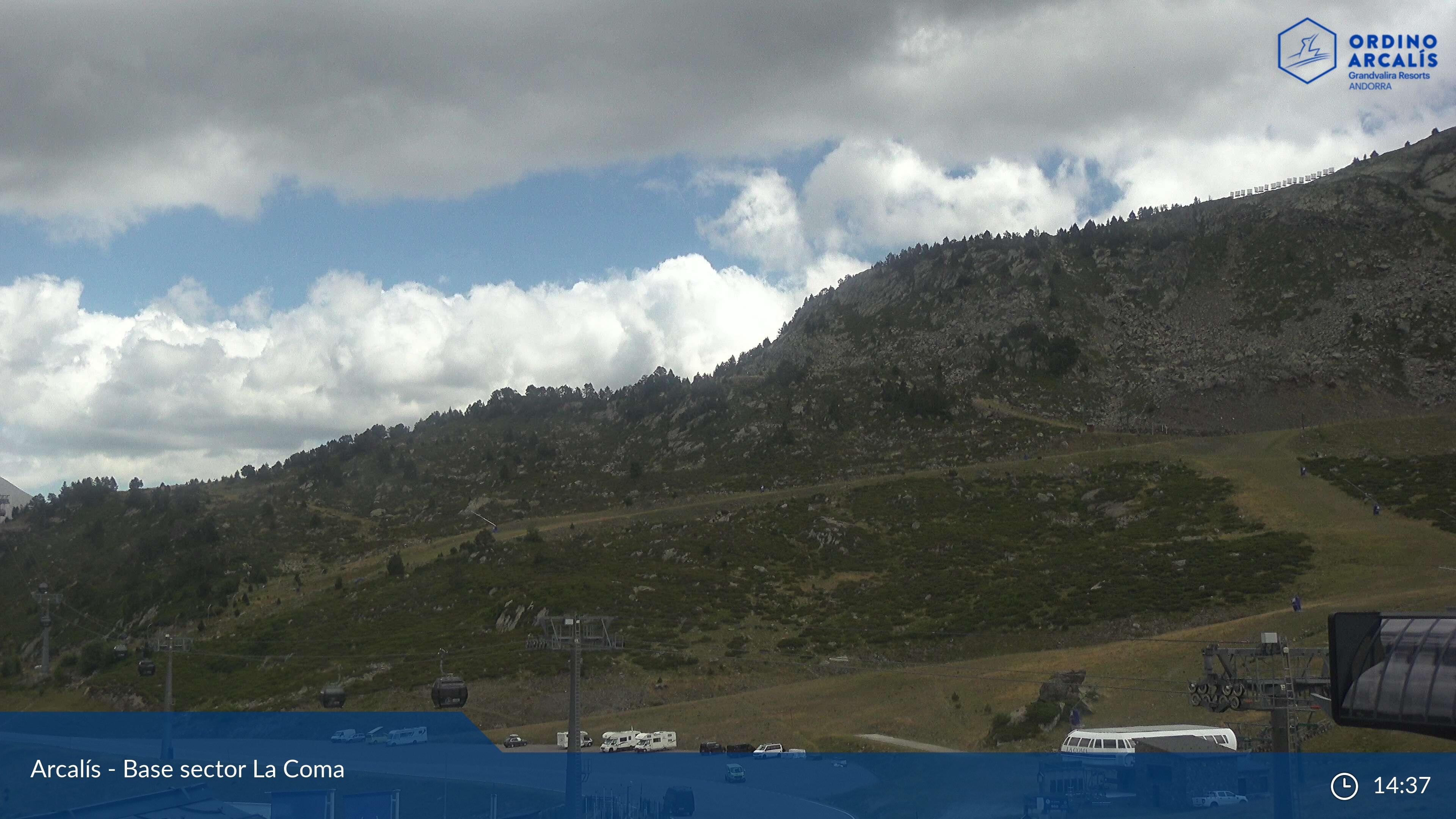 Webcam en La Coma - Feixants, Ordino Arcalís (Andorra)