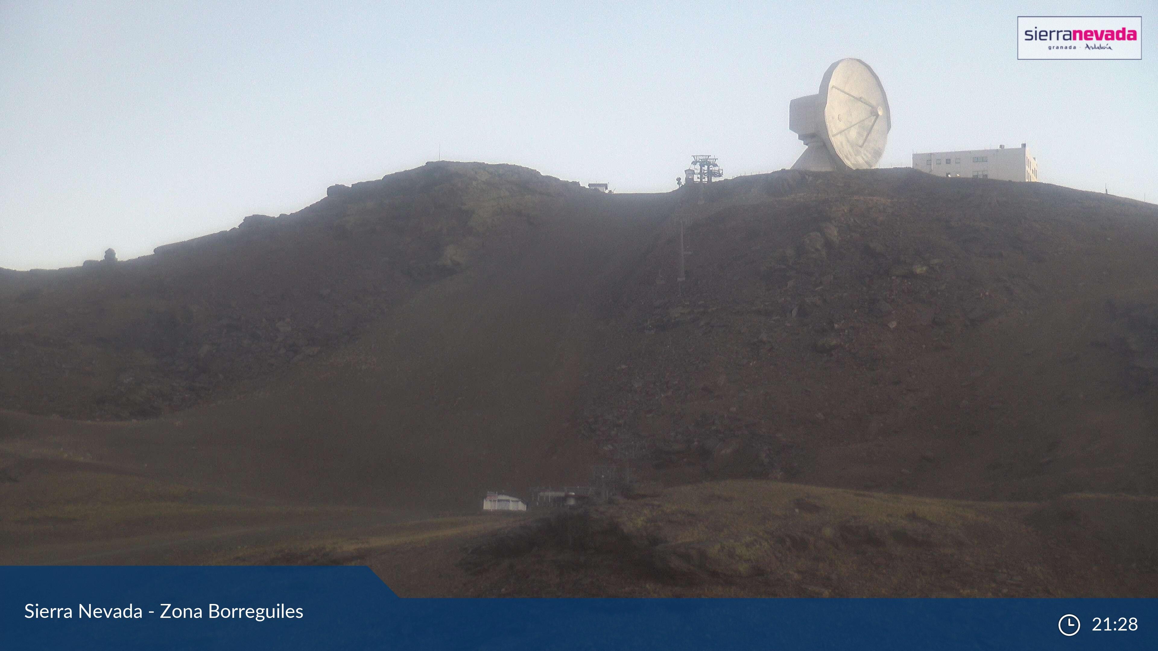 Webcam en La Visera - Radiotelescopio, Sierra Nevada (Sistema Penibético)